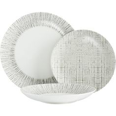 Crate & Barrel Ito Dinnerware: Geometric with a hint of randomness.  Feels Japanese and rock at the same time.