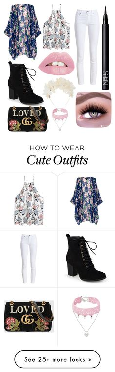 """Causal,Cute, and Comfortable Outfit"" by oliviaballard04 on Polyvore featuring Barbour, Journee Collection, Gucci, Lizzie Fortunato, NARS Cosmetics and Design Lab"