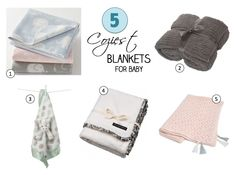 Brrrr. It's getting cold! Cozy Baby Blankets We Want to Wrap Up In. Some of our favorites!