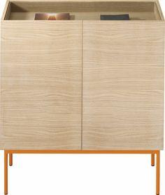 Luc Cabinet 100 P2 Glas Orange von Asplund
