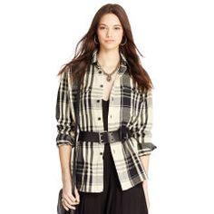 Plaid Cotton Twill Workshirt - Polo Ralph Lauren Long-Sleeve - RalphLauren.com