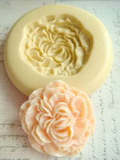 Peony Blossom - Flexible Silicone Mold - Push Mold, Jewelry Mold, Polymer Clay Mold, Resin Mold, Craft Mold, Food Mold, PMC Mold on Etsy, $6.00
