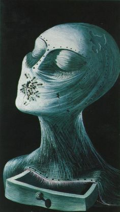 Ant Face by Salvador Dali. im drawn to this because it looks likes shes being covered by a mask, yet she is very beautiful.