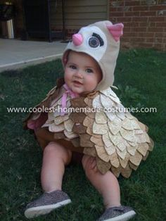 Pine cone halloween costume diy tutorial and pictures kid stuffs coolest baby owl costume solutioingenieria Choice Image