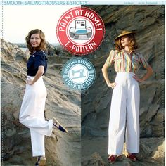 E-Pattern- Size A- Smooth Sailing 1930s TROUSERS