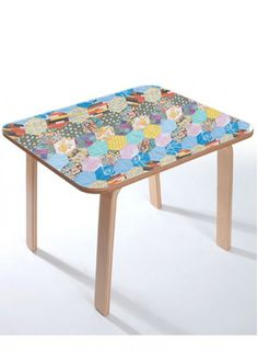 Child's table by Ella Doran and Alex MacDonald for the Collection Editions.  Limited Edition!  We are very happy to edit this beautiful child's table whose top was specially designed by Ella Doran.  For a couple of years now, we have been editing this table with white top designed by Alex MacDonald.  This limited edition table is actually the result of a collaboration between Ella, Alex and us. #thecollection