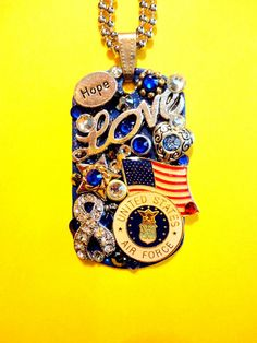 United States Air Force Dog Tag Pendant Number 1042 by BradosBling, $34.99