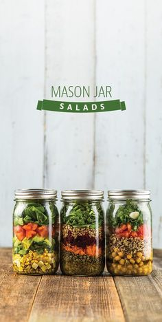 Mason Jar Salads: Making and bringing lunches Monday through Friday doesnt have to be a chore. Thanks to our favorite Mason jars, you can pack a healthy and delicious lunch quickly, that will last in your fridge all week long.