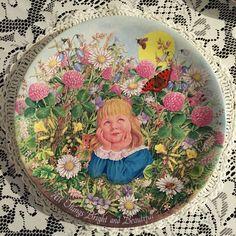 Vintage 1980s Limited edition Davenport 'all things bright and beautiful' collectors plate bright colours