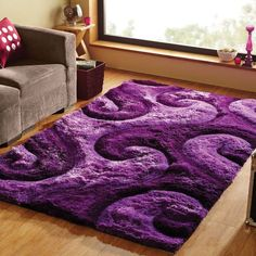 Purple rugs, Agra and Rugs on Pinterest #RugsOnCarpet