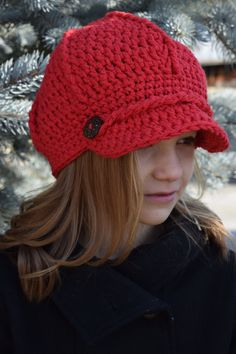 Items similar to News Boy, Double knit, Cotton Crocheted Hat, Girl/Teen/Woman, Made to Order on Etsy Cotton Crochet, Crochet Hats, Double Knitting, Yarn Crafts, Inspired, Trending Outfits, News, Unique Jewelry, Handmade Gifts