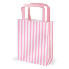 Party Ark's 'Pink & White Stripe Paper Party Bags with Handles'