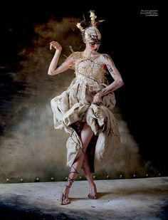 Edie Campbell in 'The Lion King' by Tim Walker for Love No.10.