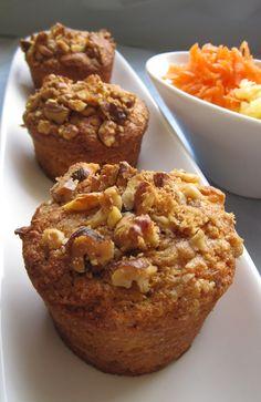 Vegan Wholewheat Pineapple Carrot Muffins – My WordPress Website Vegan Treats, Vegan Foods, Vegan Snacks, Healthy Desserts, Vegan Recipes, Cooking Recipes, Vegan Muffins, Healthy Muffins, Vegan Freezer Meals