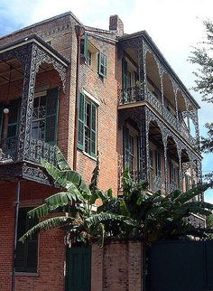 Although term French Creole to describe buildings in French Quarter of New Orleans, fancy ironwork is not French, but a Victorian elaboration on a Spanish idea