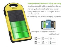 cheap portable mobile battery charger slim solar power bank  5000 mAh not10000mah power bank //Price: $US $14.00 & FREE Shipping //     #samsung