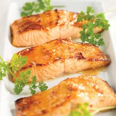 maple balsamic glazed salmon One of my favorite recipes Salmon Recipes, Fish Recipes, Seafood Recipes, Cooking Recipes, Healthy Recipes, Salmon Food, Salmon Dinner, Healthy Sugar, Cooking Food