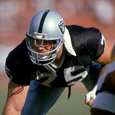 Hall Of Fame Howie Long Los Angeles Raiders Oakland Raiders Silver and Black Raiders Players, Nfl Raiders, Oakland Raiders Football, Football Players, Football Helmets, Football Wall, School Football, Nfl Hall Of Fame