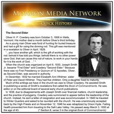 MormonMediaNetwork.com -  Oliver Cowdery -- The Second Elder