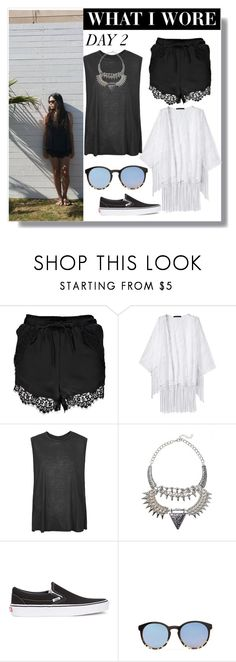 """D A Y 3"" by yellowgrapes ❤ liked on Polyvore featuring Boohoo, Boutique and Vans"