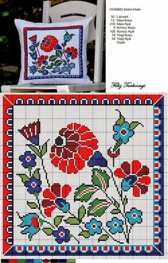 Embroidery patterns borders watches 30 new Ideas Cross Stitch Pillow, Cross Stitch Love, Cross Stitch Needles, Cross Stitch Flowers, Cross Stitch Charts, Cross Stitch Designs, Cross Stitch Patterns, Cross Stitching, Cross Stitch Embroidery