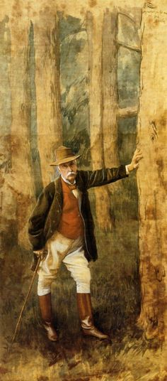 James Jacques Joseph Tissot (1836-1902)  Self Portrait  Gouache on silk  1898