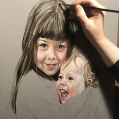 Process Art, Painting Tips, Art Techniques, Oil On Canvas, Sisters, Youtube, Painted Canvas, Daughters, Big Sisters