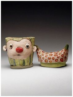 Tammy Marinuzzi Jar at MudFire Gallery click now for more info. Clay Owl, Ceramic Artists, Ceramic Pottery, Color Pop, Jar, Flooring, Sculpture, Ceramics, Gallery