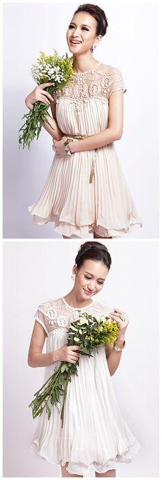 Gorgeous Pleated Chiffon A-line Dress