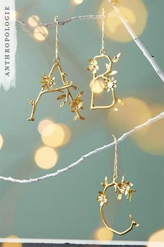 Budding Monogram Ornament | Christmas Ornament | Shop Anthropologie Holiday