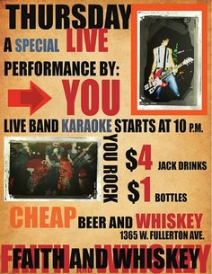 Every Thursday - $1 Dometic Beers, Live Karaoke, No Cover