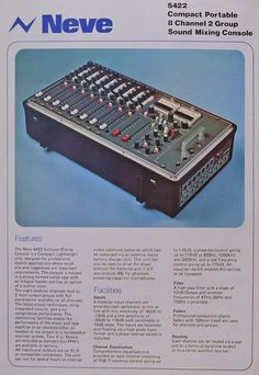 1977 catalog for Neve professional audio products in Reel2ReelTexas.com's vintage recording collection