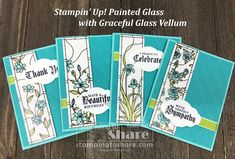 Stampin' Up! Painted Glass Four Card Bundle created by Kay Kalthoff with #stampingtoshare