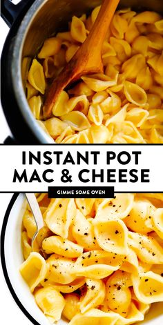 Instant Pot Mac and Cheese recipe is super-quick and easy to make in the pressure cooker, it's easy to customize with cheddar or your favorite kind of cheese, and it tastes SO cozy and delicious! Instant Pot Mac And Cheese Recipe, Instant Pot Dinner Recipes, Instant Pot Pressure Cooker, Pressure Cooker Recipes, Pressure Cooking, Slow Cooker, Instant Cooker, Cheese Recipes, Pasta Recipes
