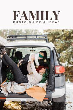 Family Photos in the Car! The cutest idea! Inspiration for your family photos at The Family Photo Blog