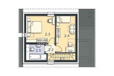 Zobacz powiększenie rzutu kondygnacji Poddasze - projekt Stamford Stamford, House Plans, Floor Plans, How To Plan, Cabins, House Floor Plans, Cottages, Cabin, Floor Plan Drawing