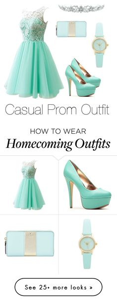 """""""Casual Prom Outfit"""" by laura94074 on Polyvore featuring Kate Spade and Kate Marie"""