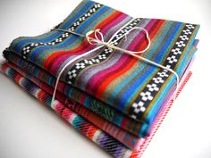 Tribal Fabric Latin American Woven aztec navajo Fabric bundles