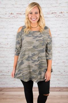 Now You See Me Tunic, Olive