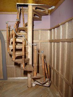 DIY Spiral Staircase? Castle Starcaster   Week Fourteen By Alennka, Via  Flickr Dollhouse Ideas