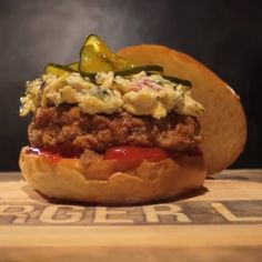 Down South Country-Fried Burger