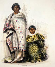 Waikato chiefs Te Moanaroa and Te Awa-i-taia wearing prestige cloaks Polynesian People, Polynesian Islands, Once Were Warriors, Maori People, Maori Designs, Indigenous Tribes, Maori Art, National Symbols, African History