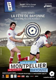 Bonne ambiance ;) Montpellier, Rugby, Baseball Cards, Sports, The Mansion, Posters, Hs Sports, Sport, Rugby Sport