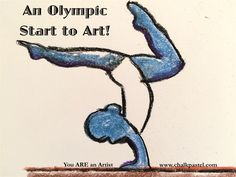 An Olympic Start to Art with A Simple Start in Chalk Pastels: Summer Games. Have fun with art and the Summer Olympics with gymnastics, archery, sailing, the coliseum, diving, medals, laurel wreath and more!