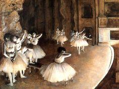 Edgar Degas; La prova di ballo a teatro; 1874; olio su tela; Musée d'Orsay, Parigi.