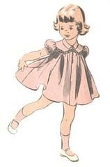 Vintage 40's sewing pattern.  Advance 5467. My grandmother made one like this for me....