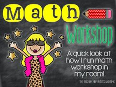 The Teacher Talk: Math 'Workshop' In My Classroom!