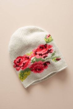 Discover unique Hats at Anthropologie, including the seasons newest arrivals. Knitting Yarn, Baby Knitting, Knitting Patterns, Hat Embroidery, Cross Stitch Embroidery, Cashmere Beanie, Cross Stitch Art, Knit Beanie Hat, How To Purl Knit