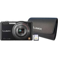Panasonic Black Lumix DMC-SZ7K 14.1 Megapixel Digital Camera with 10x Optical Zoom Kit (includes case and 4GB SD card)