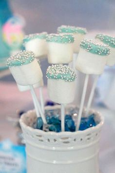 Throwing a Frozen themed birthday party? We have all your Frozen party food, decorations and games covered! Frozen Birthday Party, Frozen Party Food, 4th Birthday Parties, Birthday Party Decorations, Food Decorations, Birthday Ideas, Frozen Themed Food, Frozen Birthday Decorations, Frozen Party Favors